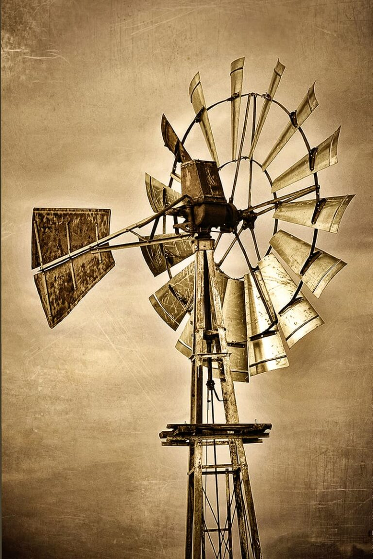 Cimarron River Windmill Coyle, OK