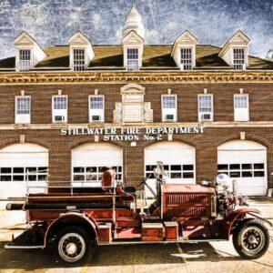 Stillwater, OK Firehouse #2 & Antique Fire Truck
